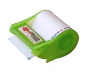 Abroller grün, Haftnotizrolle bis 4-farbig bedruckt