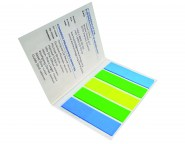 Index Marker im Umschlag blau-grün-gelb
