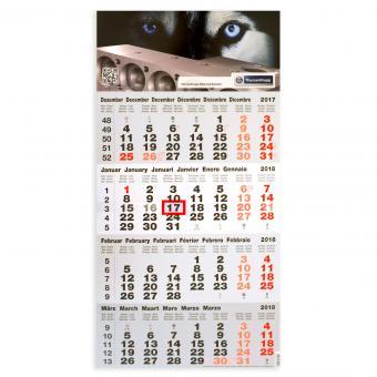 4-Monatskalender Kopfteil bedruckt