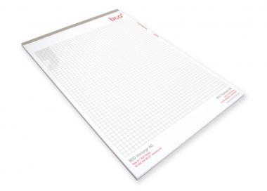 Schreibblock mit Fälzelband A4