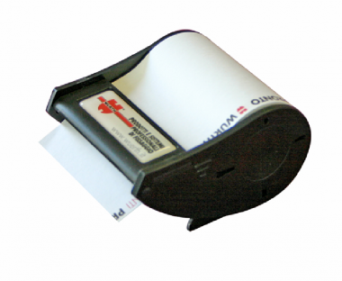 Abroller schwarz, Haftirolle bis 4-farbig bedruckt
