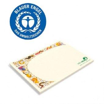 Haftnotizblock aus zertifiziertem Recyclingpapier