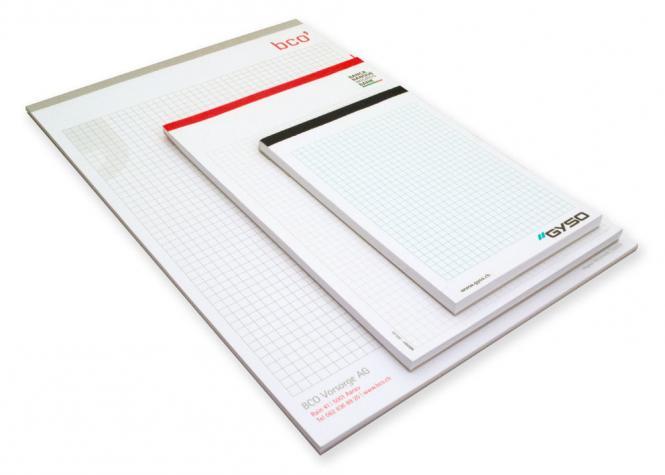 Schreibblock mit Fälzelband A4, A5 und A6