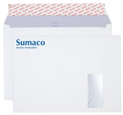 Briefkuverts C4 bedruckt - ELCO Fenster rechts