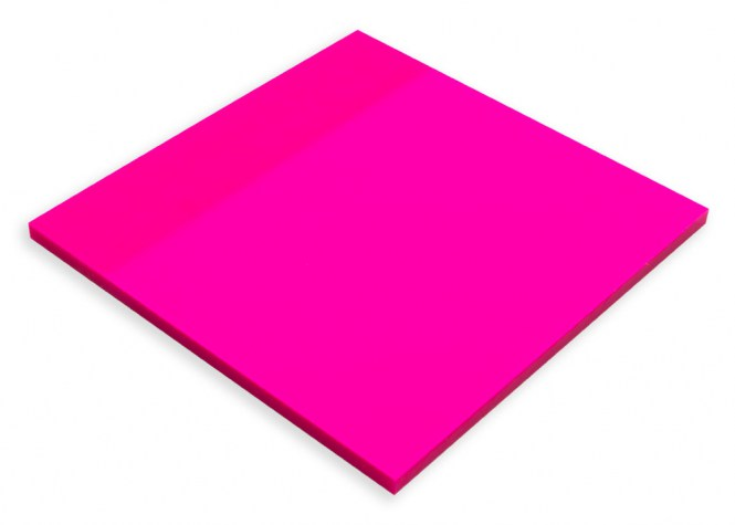 Clear Note pink 75x75mm