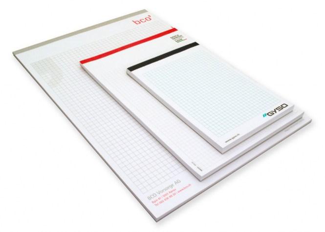 Schreibblock mit Fälzelband A6