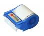 Abroller blau, Haftnotizrolle bis 4-farbig bedruckt