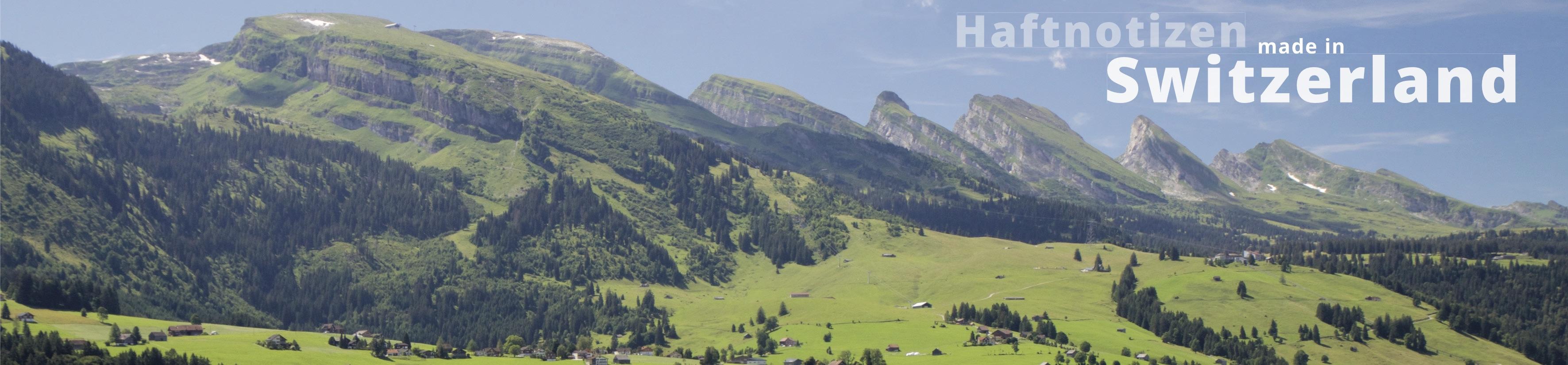 Haftnotizen in der Schweiz hergestellt